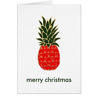Tropical Christmas Pineapple Wishes Card