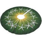 Tropical Christmas Starfish Green Starburst Brushed Polyester Tree Skirt