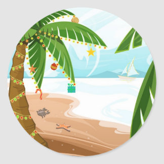 Tropical Christmas Sticker