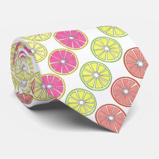 Tropical Citrus Fruit Lemon Lime Orange Grapefruit Tie
