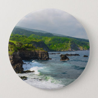 Tropical Cliffs in Maui Hawaii 10 Cm Round Badge