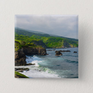 Tropical Cliffs in Maui Hawaii 15 Cm Square Badge