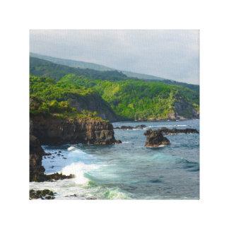 Tropical Cliffs in Maui Hawaii Canvas Print