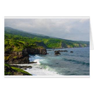 Tropical Cliffs in Maui Hawaii Card