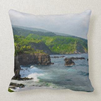 Tropical Cliffs in Maui Hawaii Cushion