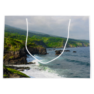 Tropical Cliffs in Maui Hawaii Large Gift Bag