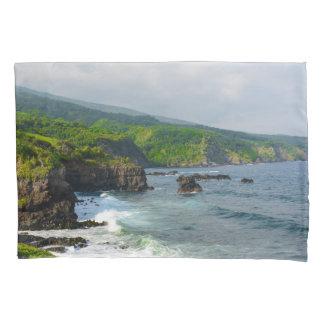 Tropical Cliffs in Maui Hawaii Pillowcase
