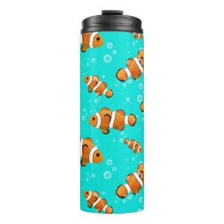 Tropical Clownfish & Bubbles Pattern Thermal Tumbler