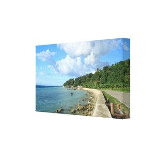 Tropical Coastal Road Canvas Canvas Prints