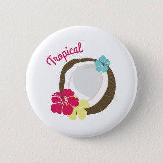 Tropical Coconut 6 Cm Round Badge