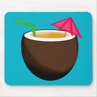 Tropical Coconut Drink Mouse Pad