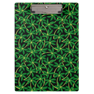 Tropical coconut palm tree clipboard