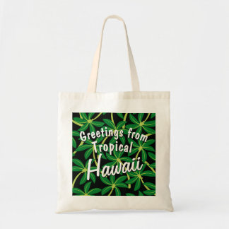 Tropical coconut palm tree tote bag
