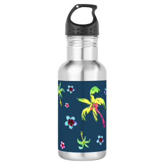 Tropical coconut trees and frangipanis 532 ml water bottle