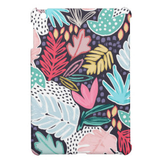 Tropical Collage Bold Colour Pattern iPad Case