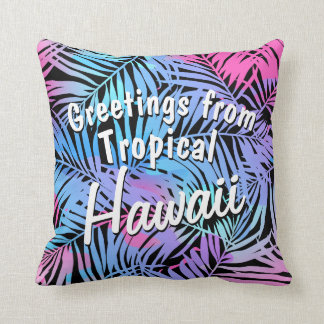 Tropical colored palms cushion