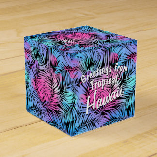 Tropical colored palms favour box