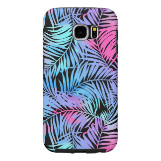 Tropical colored palms samsung galaxy s6 cases
