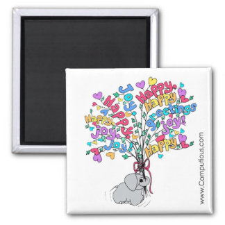 TROPICAL COLORS BOUQUET OF GOOD WISHES Magnet
