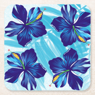 Tropical coqasters square paper coaster