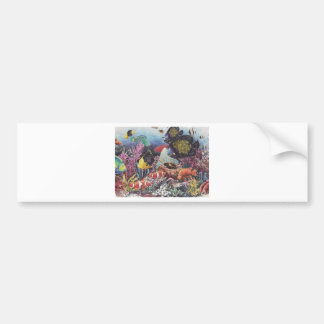 Tropical Coral Fish Dance Bumper Sticker