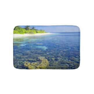 Tropical Coral Island Bath Mat