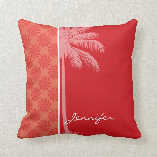 Tropical Coral & Red Swirl Zazzle
