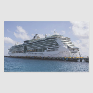 Tropical Cruise Ship Rectangular Sticker