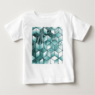 Tropical Cubic Effect Palm Leaves Design Baby T-Shirt