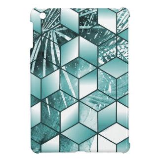 Tropical Cubic Effect Palm Leaves Design iPad Mini Case