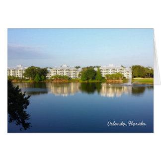 Tropical Cypress Harbour Resort - Orlando Florida Note Card