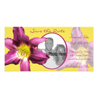 Tropical Daylily Save the Date Picture Card