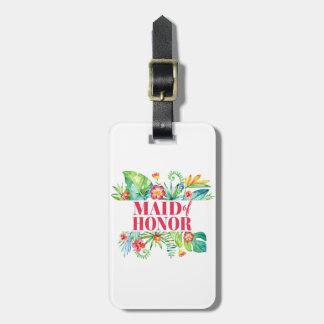 Tropical Destination Wedding Maid of Honor Bag Tag