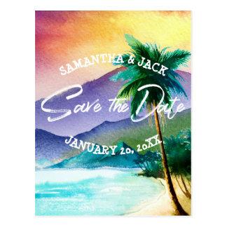 Tropical Destination Wedding | Save the Date Postcard