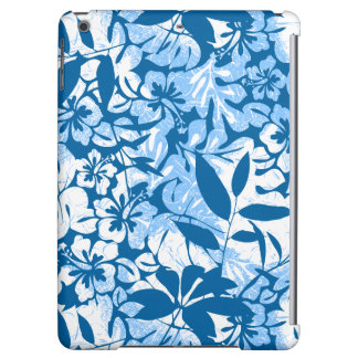Tropical distressed blue floral
