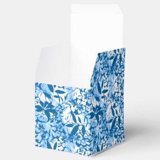 Tropical distressed blue floral favour box