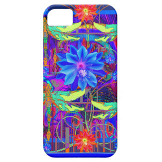 Tropical Dragonflies Blue Flower gifts iPhone 5 Cases