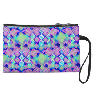 Tropical dream in pink suede wristlet