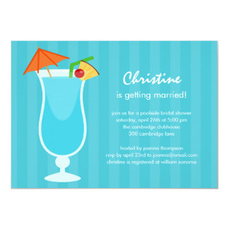 Tropical Drink Bridal Shower or Bachelorette Party Card