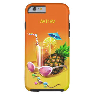 Tropical Drink custom monogram phone cases