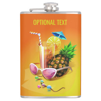 Tropical Drink custom name & text flask