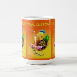 Tropical Drink custom text mugs