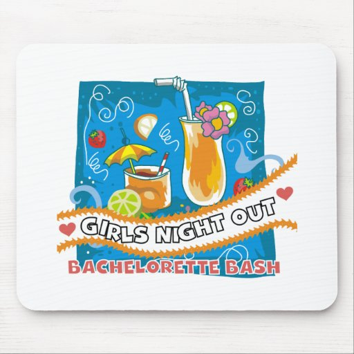Tropical Drinks Bachelorette Bash Mouse Pads