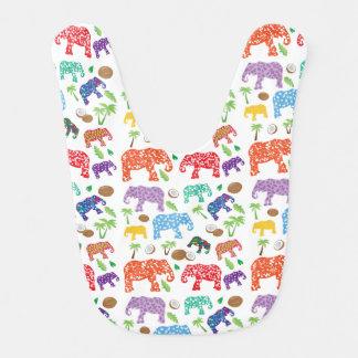 Tropical Elephants Bibs