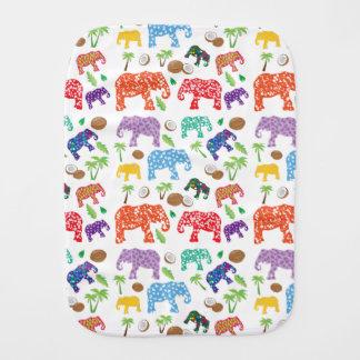Tropical Elephants Burp Cloth