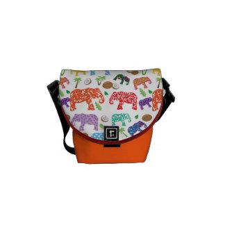 Tropical Elephants Messenger Bags