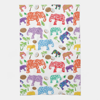 Tropical Elephants Towels