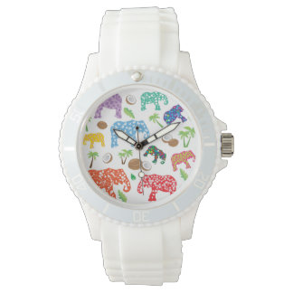 Tropical Elephants Wristwatch