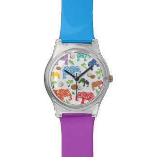 Tropical Elephants Wristwatches