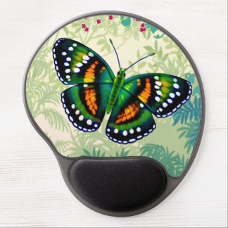 Tropical Emerald Green Butterfly Gel Mousepad